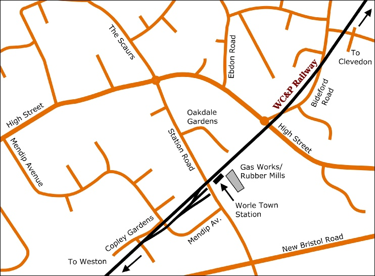 Worle Town detail map